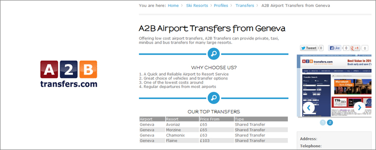 airport transfers example